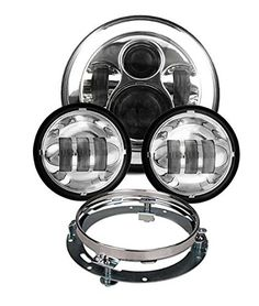 Scoot Lights Chrome headlight Kit for Harley Davidson motorcycles WMJ047 WMJ045E WMJ048A * Check this awesome product by going to the link at the image. (It is an affiliate link and I receive commission through sales)