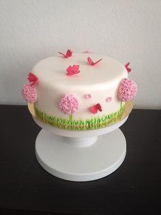 Summer cake #butterfly #flower #cake