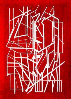 unknown by Pablo Palazuelo Art Espagnole, Modern Art, Contemporary Art, Simple Collage, Gelli Printing, Red Art, Foto Art, Elements Of Art, Western Art