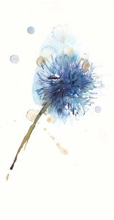 Watercolor dandelion tattoo