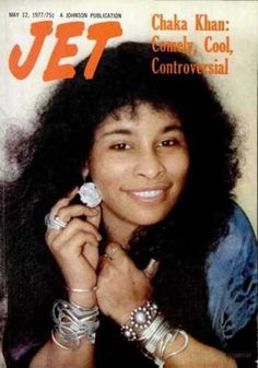 Chaka Khan on the cover of Jet, May 1977.