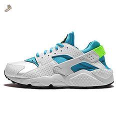 quality design 42db3 98b3b nike womens air huarache run trainers 634835 sneakers shoes (US 7, white  gamma blue electric green 109) - Nike sneakers for women ( Amazon Partner- Link)