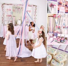 Pink & Purple Garden Inspired Maypole Party