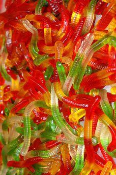 Gomitas de gusanitos. De Venta en la Dulcería para unas gelatinas divertidas...