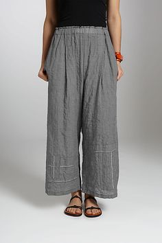Paper Bag Pant: Carol Lee Shanks: Woven Pant - Artful Home