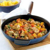 Pannetje met kalkoen en groenten