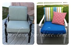 DIY Outdoor Patio Furniture Makeover: From Ugly to Beach Chic in a Day!