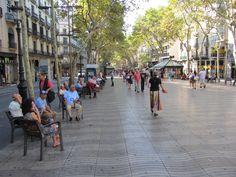 Las Ramblas, Barcelona, Spain. A definite favourite.