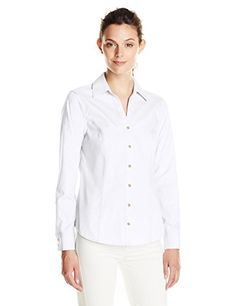 9a0b6020da17 Calvin Klein Women's Non Iron Shirting Top - Shop for women's Shirt - Birch  Shirt