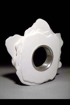 Bracelet | Arthur Hash. Cast polyurethane and silver