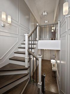 Neoclassical Interior, Timber Cladding, Interior Stairs, Interior Decorating, Interior Design, French Interior, Bathroom Colors, Elegant Homes, Home And Living