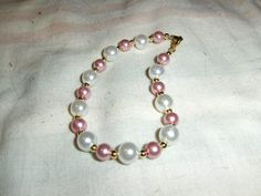 """""""Rose Colored Pearls"""" bracelet --- $2.00 + $3.00 shipping in the USA"""