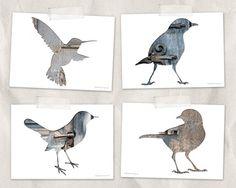 ptaki i architektura - kartki A6 (proj. biała Kura), do kupienia w DecoBazaar.com