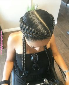 Full Lace Human Hair Wigs For Women Natural Black Remy Brazilian Straight Frontal Wig Front Plucked Easy To Make 360 Bun Slove Free S… Two Braid Hairstyles, African Braids Hairstyles, Fast Hairstyles, Curly Hair Styles, Natural Hair Styles, Braids For Black Hair, Human Hair Lace Wigs, Girls Braids, Love Hair