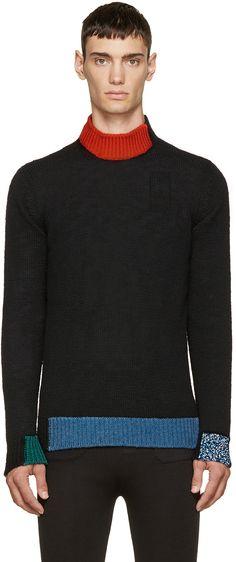 https://www.ssense.com/en-us/men/product/raf-simons/black-colorblocked-knit-sweater/1237093