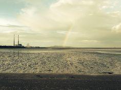 Sandymount strand, Dublin, rainbow
