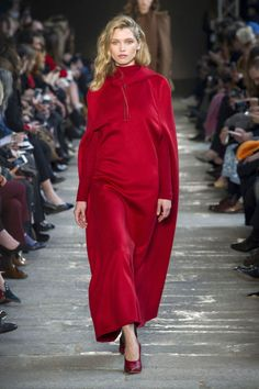 MAX MARA / Bright, Bold Red Is All You'll Be Wearing Next Fall The fiery hue is making a comeback this season.
