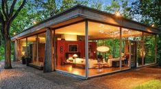 Mid century designed by H. Davis Deever Rockwell 2019 This is MY idea of a cabin in the woods! Davis Deever Rockwell 1965 The post Mid century designed by H. Davis Deever Rockwell 2019 appeared first on Architecture Decor. Modern House Design, Modern Interior Design, Glass House Design, Interior Designing, Modern Glass House, Modern Interiors, Midcentury Modern, Farnsworth House, Cabins In The Woods