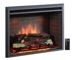 PuraFlame Western Electric Fireplace Insert with Remo. PuraFlame Western Electric Fireplace Insert with Remote Control, Black Electric Fireplace Reviews, Electric Fireplace Heater, Wall Mount Electric Fireplace, Electric Fireplaces, Electric Logs, Old Fireplace, Concrete Fireplace, Fireplace Surrounds, Fireplace Ideas
