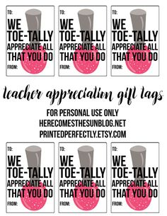 This mason jar pedicure set is the perfect teacher appreciation gift! Comes with a free printable!