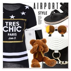 """""""airport style"""" by paculi ❤ liked on Polyvore"""