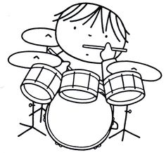 Music Drawings, Easy Drawings, Coloring For Kids, Coloring Pages, Music Clipart, Making Musical Instruments, Preschool Colors, Music Crafts, Drummer Boy