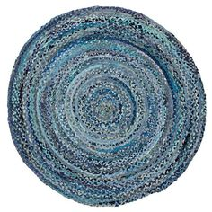 Ring Around the Ribbon Rug (Blue)   The Land of Nod