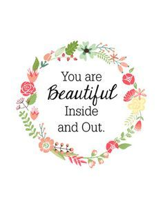 8x10 You are Beautiful Inside and Out Art by OhSoLovelyCreative, $6.00