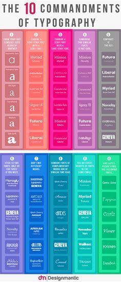 Los 10 Mandamientos de la tipografía | Vecindad Gráfica Diseño Gráfico