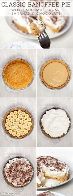 Step by step guide to making sweet and fresh banoffee pie, generously topped with whipped cream! A sweet and fresh banoffee pie, generously topped with whipped cream! Pie Recipes, Sweet Recipes, Dessert Recipes, Cooking Recipes, Dinner Recipes, Pie Dessert, Amish Recipes, Dutch Recipes, Yummy Recipes