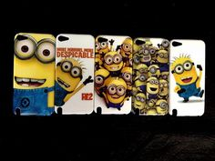 HJX Ipod touch 5 Cute Despicable Me Minions Snap-on Hard Case Skin for Apple Ipod touch 5 5th Smile