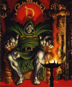 """At work on #Friday like """"I'm just here so my boss doesn't set me on fire disintegrate me and then send my ashes to the Negative Zone."""" #SoSwearsDoom #KneelBeforeDoom #DrDoom #FantasticFour #JoeJusko #TGIF"""
