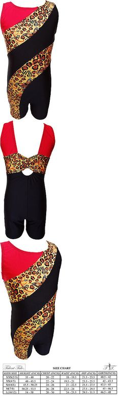 Leotards and Unitards 152354: Talent Tale Girls Dance Gymnastic Animal Print Block Tank Biketard -> BUY IT NOW ONLY: $31.99 on eBay!