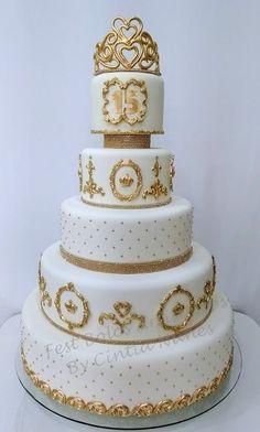 Sparkle Wedding Cakes, Elegant Wedding Cakes, Cool Wedding Cakes, Elegant Cakes, 15th Birthday Decorations, Bolo Sofia, Bolo Paris, Victorian Cakes, 50th Anniversary Cakes