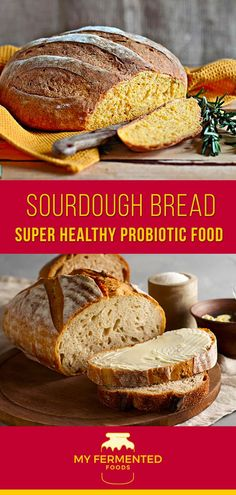 12 Powerful Probiotic Foods Great for Your Gut - Sourdough bread is one of the most ancient breads having tons of health benefits. It has a sour taste and slightly different texture compared to regular white bread. Sourdough Recipes, Sourdough Bread, Bread Recipes, Probiotic Foods, Fermented Foods, Ethiopian Injera, Fermentation Recipes, Sour Taste, Healthy Smoothies