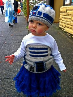 Why even have kids if you're not going to dress them in hand-knit R2-D2 tutus for Halloween?