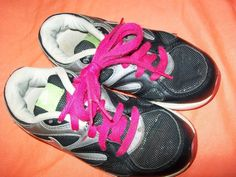 13 Girl Nike Air Black Silver with Pink Shoe Strings,barely wore,bought to tight #Nike #Athletic