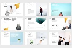 2019 가장 트렌디한 PPT 디자인 + 무료 소스 - SIMPLE P. Ppt Template Design, Ppt Design, Keynote Template, Layout Design, Graphic Design, Company Presentation, Presentation Templates, Presentation Design, Double Exposure Photoshop Action