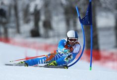 Marcus Sandell of Finland in action during the Alpine Skiing Men's Giant Slalom (c) Getty Images