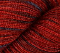 Heritage Cascade Sock Yarn -- Not a cone, but I think it'll work well with my machine and I have a yarn winder.