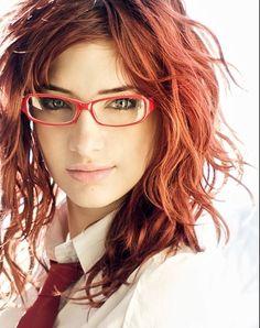 Girl Red Hair Glasses