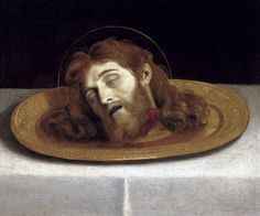 """speciesbarocus:  """"Domenichino - The Head of St John the Baptist (1630).  """""""