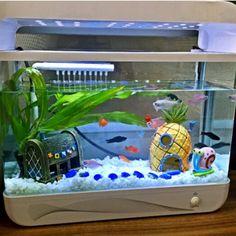 Aquarium landscaping / house / Room Escape SpongeBob SquarePants hee fish aquarium decorative pineapple room