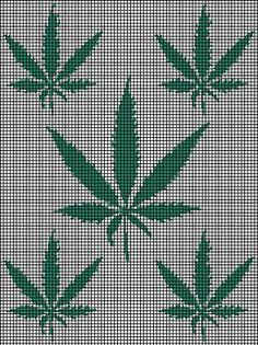 Marijuana Leafs Crochet Pattern