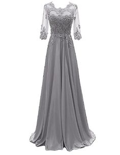 Are you searching for a cute mother of the bride dress? You should take a look at this Sleeve Lace Beaded Evening Dress Long Formal Party Gowns Related Evening Dresses With Sleeves, Mob Dresses, Formal Evening Dresses, Formal Gowns, Cute Dresses, Bridal Dresses, Evening Gowns, Mother Of The Bride Gown, Fantasy Gowns
