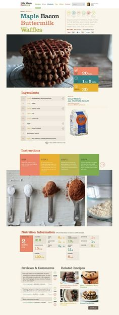 Everyone loves to see large images of delicious food! Drool... #Web #Design #Biscuit