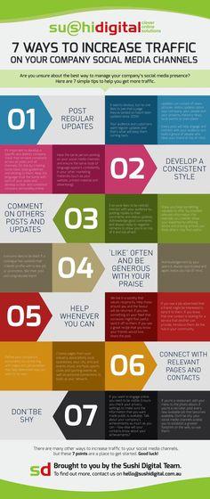 7 consejos para aumentar el tráfico en tus redes sociales (infografía)