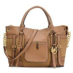 cdbd9ca65482 Michael Kors Charm Tassel Convertible Shoulder Bag Luggage · MICHAEL  Michael Kors Satchel Mcgraw Leather Large Slim Tan Bag
