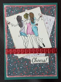 I loved this stamp that came with the Making Cards magazine last month and the bright and cheery papers that came with it. I chose to create two cards using the stamp and colouring them differently… Best Friend Cards, Cards For Friends, Best Friends, Shabby Look, Free Paper, Cheer, Card Making, Elegant Lady, Colouring