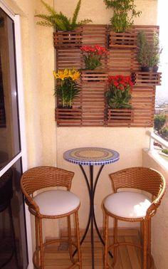 30 Beautiful Small Balcony Ideas For Limited Space - Balcony Garden Small Balcony Design, Small Balcony Garden, Small Balcony Decor, Small Patio, Small Balconies, Balcony Bench, Living Room Near Balcony, Condo Balcony, Small Terrace